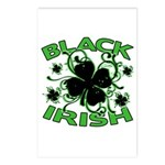 Black Shamrocks Black Irish Postcards (Package of