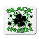 Black Shamrocks Black Irish Mousepad