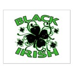 Black Shamrocks Black Irish Small Poster