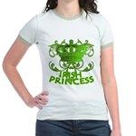 Crown and Scroll Irish Princess Jr. Ringer T-Shirt
