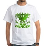 Crown and Scroll Irish Princess White T-Shirt