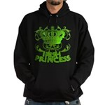 Crown and Scroll Irish Princess Hoodie (dark)