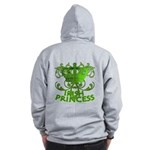 Crown and Scroll Irish Princess Zip Hoodie