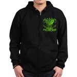 Crown and Scroll Irish Princess Zip Hoodie (dark)