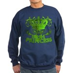 Crown and Scroll Irish Princess Sweatshirt (dark)
