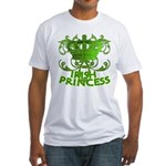 Crown and Scroll Irish Princess Fitted T-Shirt