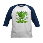 Crown and Scroll Irish Princess Kids Baseball Jers