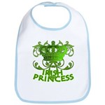 Crown and Scroll Irish Princess Bib