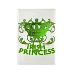Crown and Scroll Irish Princess Rectangle Magnet (