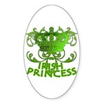 Crown and Scroll Irish Princess Sticker (Oval)