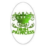 Crown and Scroll Irish Princess Sticker (Oval 10 p