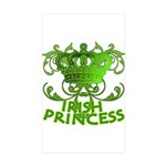 Crown and Scroll Irish Princess Sticker (Rectangle