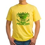 Crown and Scroll Irish Princess Yellow T-Shirt