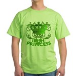 Crown and Scroll Irish Princess Green T-Shirt