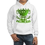 Crown and Scroll Irish Princess Hooded Sweatshirt