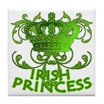 Crown and Scroll Irish Princess Tile Coaster