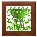 Crown and Scroll Irish Princess Framed Tile