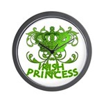 Crown and Scroll Irish Princess Wall Clock