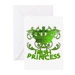 Crown and Scroll Irish Princess Greeting Cards (Pk