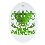 Crown and Scroll Irish Princess Ornament (Oval)