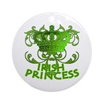 Crown and Scroll Irish Princess Ornament (Round)