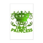 Crown and Scroll Irish Princess Mini Poster Print