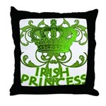 Crown and Scroll Irish Princess Throw Pillow