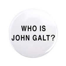 "Who is John Galt? 3.5"" Button (100 pack)"
