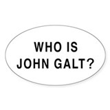Who is John Galt? Oval Sticker (50 pk)
