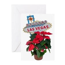 Las Vegas Merry Christmas Poinsettias Cards 10