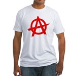 Anarchy Symbol Red Fitted T-Shirt