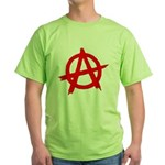 Anarchy Symbol Red Green T-Shirt