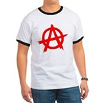 Anarchy Symbol Red Ringer T