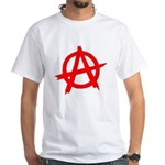 Anarchy Symbol Red White T-Shirt