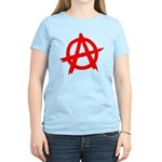 Anarchy Symbol Red Women's Light T-Shirt