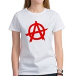 Anarchy Symbol Red Women's T-Shirt