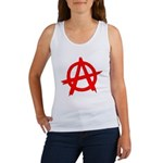 Anarchy Symbol Red Women's Tank Top