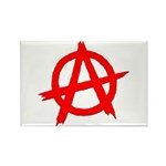 Anarchy Symbol Red Rectangle Magnet (10 pack)
