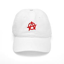 Anarchy Symbol Red Baseball Cap