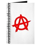 Anarchy Symbol Red Journal