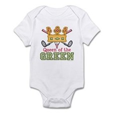 Queen of the Green Golf Infant Bodysuit