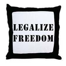 Legalize Freedom Throw Pillow