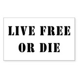 Live Free or Die Rectangle  Aufkleber