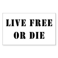 Live Free or Die Rectangle Decal