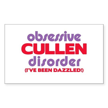 Obsessive Cullen Disorder Rectangle Sticker 50 pk