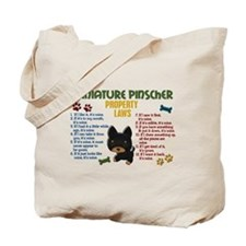 Miniature Pinscher Property Laws 4 Tote Bag
