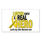 Never Knew A Hero 2 GOLD (Son) Rectangle Decal
