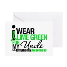 I Wear Lime Green For Uncle Greeting Cards (Pk of