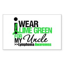 I Wear Lime Green For Uncle Rectangle Decal