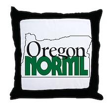 Oregon NORML Logo Throw Pillow